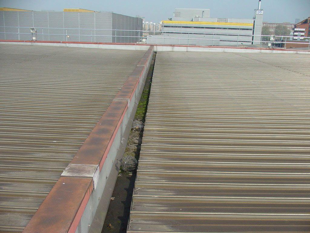 Existing aluminium standing seam roof