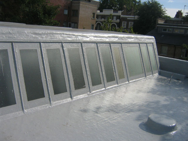 New liquid waterproofing application to glazing detail