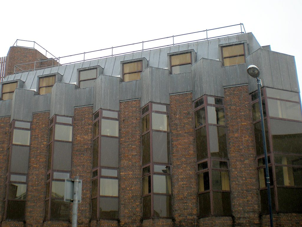 Installation designed to replicate original lead cladding