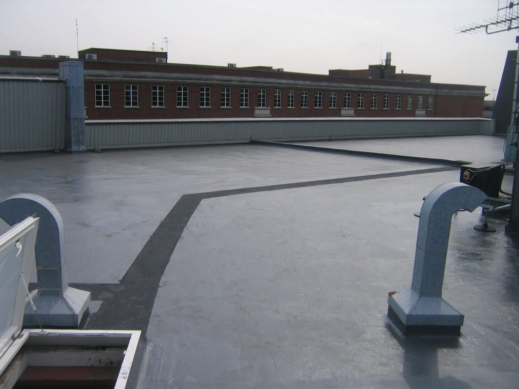 New roof access hatch and designated walkway demarcation