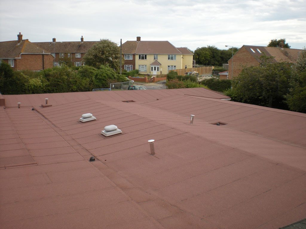 Completed high performance felt roof covering