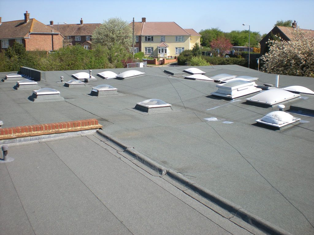 Existing failed flat roof