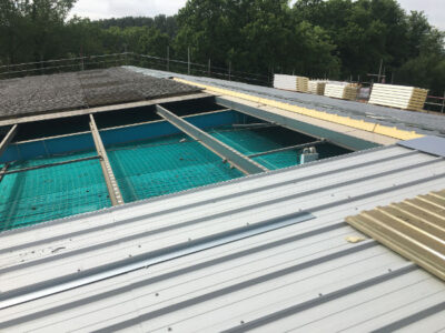 asbestos roof removal and safety netting